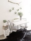 Vintage Signing Table, Faux Leaf Garland and Rustic Stacking Crates Hollow Furniture