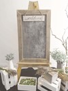 Large Black Board Sign, Stacking Crates and Wildflowers Hollow Furniture