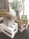 Stacking Crates, String Lights and Wildflowers Hollow Furniture