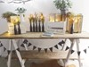 Large Trestle Table, Wooden Bunting and Stacking Crates with String Lights Hollow Furniture