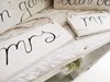 "Scripted Wooden ""Mr"" and ""Mrs: Signs Hollow Furniture"