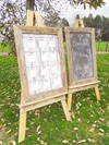 Large Display Board and Chalk Board Sign with Rustic Wooden Frames Hollow Furniture