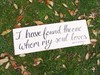 """I have found the one whom my soul loves"" Scripted Wooden Sign with Fall Leaves Hollow Furniture"