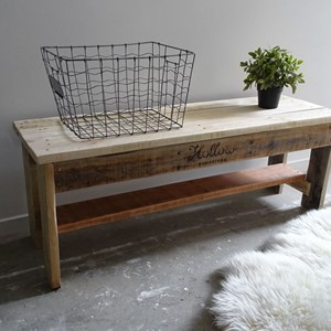 Product photo of Nordic Inspired Bench Seat - Natural Timber