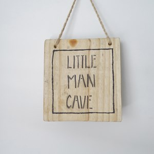 "Product photo of ""Little Man Cave"" Sign"