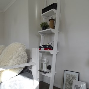 Product photo of Reclaimed Timber Leaning Shelves - White Washed