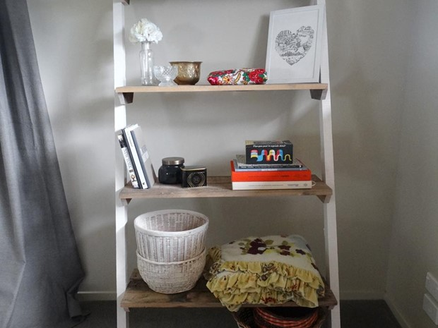 Photo of Reclaimed Timber Leaning Shelves