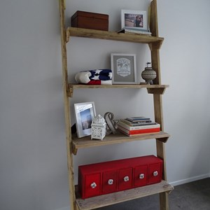 Product photo of Reclaimed Timber Leaning Shelves - Natural Timber