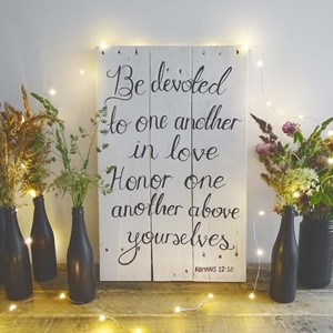 "Product photo of ""Be Devoted..."" Sign"