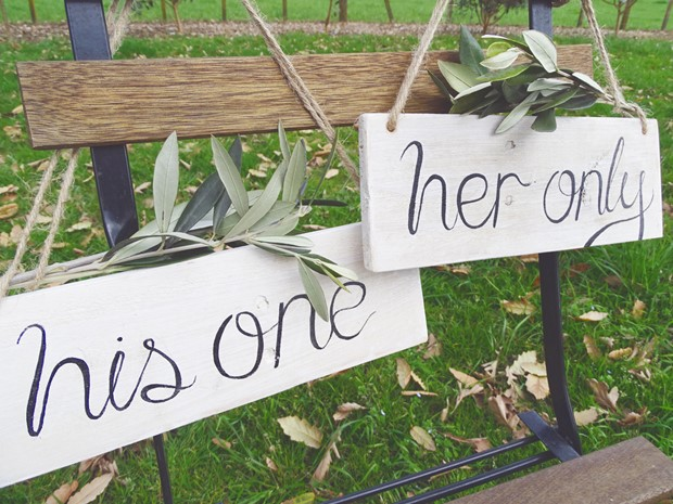Photo of His One & Her Only Signs