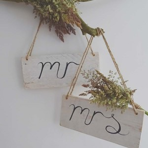 Product photo of Mr & Mrs Signs
