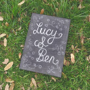 Product photo of Small Chalk Board Sign