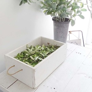 Product photo of White Wooden Box Crate