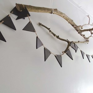 Product photo of Black Wooden Bunting